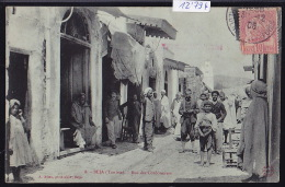 Tunisie - Béja : Rue Des Cordonniers, Avec Enseigne De Cordonnerie - Vers 1906 (12´794) - Tunisie