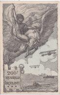CARD  IDROVOLANTI 266° SQUADRIGLIA CAVALLO PEGASO IDROVOLANTI NAVE SOMMERGIBILI FIRMA ROGGIAPANE O. FP-V-2- 0882-17706-7 - War 1914-18
