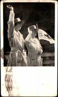 Vintage American Red Cross ARC Canteen Service - Early Postcard - Ladies Waving - Red Cross