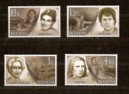 Moldavie Moldova 2011 Yvertn° 673-676*** MNH Cote 13,00 Euro Personnalités - Moldavie