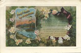 """Fast Falls The Eventide  A & G Taylor´s """"Orthchrome"""" Series Copyright Pictorial Postcards Z.O. 1193 - Holidays & Celebrations"""