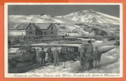 HB382, Aurostrada Sull'Etnea, Caserma Della Milizia Forestale, Animée, Circulée 1937 - Italia