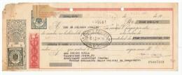 LETRA DE CAMBIO Años 50 Con Sellos Y Timbres - Banco De Bilbao - Banco Central - Letras De Cambio