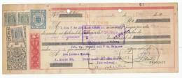 LETRA DE CAMBIO Años 50 Con Sellos Y Timbres - Cazalla De La Sierra - Letras De Cambio