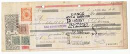 LETRA DE CAMBIO Años 50 Con Sellos Y Timbres - Banco Hispano Americano  - Villafranca Del Panades - Letras De Cambio