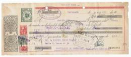 LETRA DE CAMBIO Años 50 Con Sellos Y Timbres - Destilerias Simo - Martorell - Letras De Cambio