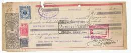 LETRA DE CAMBIO Años 50 Con Sellos Y Timbres - Banco Guipuzcuano - Banco Español De Credito - Letras De Cambio