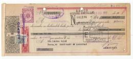 LETRA DE CAMBIO Años 50 Con Sellos Y Timbres - PHOSCAO - Banco Zaragozano - Letras De Cambio