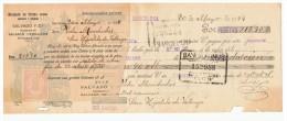LETRA DE CAMBIO Años 20 ILUSTRADA Con Sellos Y Timbres -  Banco Hispano Americano - Letras De Cambio