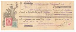 LETRA DE CAMBIO Años 20 ILUSTRADA Con Sellos Y Timbres - Credit Lyonnais - Letras De Cambio