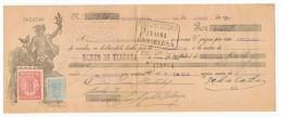 LETRA DE CAMBIO Años 20 ILUSTRADA Con Sellos Y Timbres - Banco De Vizcaya - Letras De Cambio