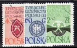 POLAND 1961 MICHEL NO: 1269-1271 USED /zx/ - Gebruikt