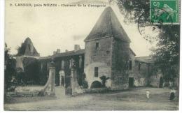 CP DP 47 Lannes Près De Mézin  Chateau De La Grangerie - France