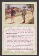 753 / N°20  Evitons Aux Autres La Souffrance. - Bon Point Accordé à L'élève. - Trade Cards