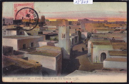 Tunisie - Monastir : Zaouia Bonjenab Et Rue De La Réunion Au Coucher Du Soleil - Vers 1908 (12´809) - Tunisie