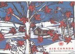 ZS49744 Air Canada Une Boufee D Air Fras   Airplane Plane    2 Scans - 1946-....: Moderne