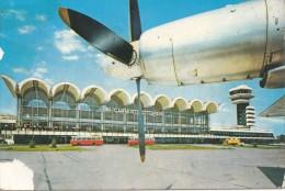 ZS49754 Aeroportul Bucuresti Otopeni Bus Autobus   Airplane Plane    2 Scans - 1946-....: Moderne