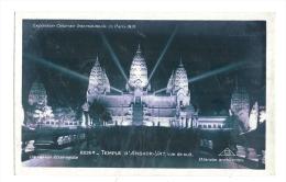 Cp, 75, Paris, Exposition Coloniale Internationale 1931 - Temple D'Angkor Vat, Vue De Nuit - Expositions