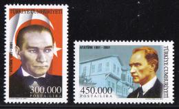 Turkey - 2001 - ( Kemal Ataturk (1881-1938) .. ) - Complete Set - MNH (**) - 1921-... República