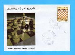 Algérie Algeria Algerien FDC Echecs Echec Chess Chess Board Ejedrez 2004 - Chess
