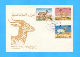 Algérie Algeria Algerien FDC Gazelles Gazelle Gacela  Betes à Cornes 1992 - Sellos