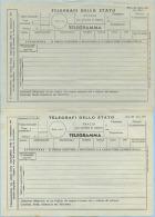 1965/70 TELEGRAMMI 2 MODULI DIFFERENTI (VD RETRO AVVERTENZE) MOD. 25 ED. 1965 E 1970 NUOVI E OTTIMA QUALITÀ (5667) - 1961-70: Storia Postale