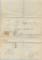 1876 LOMBARDIA PIEGO MUNICIPIO OSSOLARO Da CASALBUTTANO 21.2.76 TRANSITO CREMA E ARRIVO ACQUANEGRA CREMONESE (5670) - Storia Postale