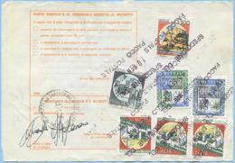 1992 BOLLETTINO PACCHI VALORE CON ASSEGNO L. 9650 RARO ANNULLO SPEDIZIONE 10.GEN 1992 DA BOLLATE E OTTIMA QUALITÀ (A166) - 6. 1946-.. Repubblica