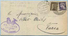 1938 IMPERIALE C. 5 (INVISIBILMENTE DIFETTOSO DX) + 7,5 MODULO A STAMPA 23.1.38 SINDACO DI GAZZA…LEGGI DESCRIZIONE (M71) - Storia Postale
