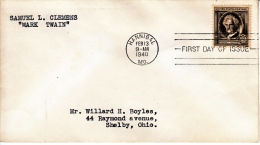 U.S. FDC  FAMOUS  AMERICANS   MARK  TWAIN - First Day Covers (FDCs)