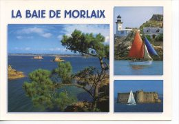 La Baie De Morlaix Multivues Phare De L´ile De Louêt Chateau Taureau Voilier Vue Générale Couleurs De Bretagne - Autres Communes
