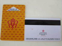 China Hotel Key Card,Regncy Hotel,Shantou - Tarjetas Telefónicas