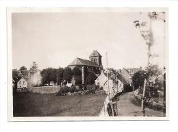 Photo Originale SALERS CANTAL  - Vue Sur L´ église  -   1929   8,5 Cm X 6 Cm - Plaatsen