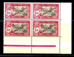Col.fr. Inde N° 170 ** - Bloc De 4 - Bord De Feuille - Côte : 32€ - India (1892-1954)