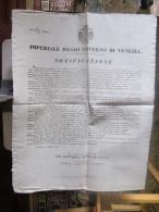 1838 - MANIFESTO LOMBARDO VENETO  GOVERNO DI VENEZIA : ARRUOLAMENTO MINORENNI... - Affiches