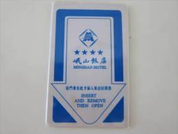 China Hotel Key Card, Minshan Hotel - Tarjetas Telefónicas