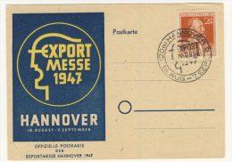 Gemeinschaftsausgaben Michel No. 963 auf Karte Export Messe 1947