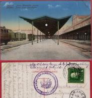 BEOGRAD - Railway Station  ( Serbia ) * Travelled * VRLO ZANIMLJIV ŽIG -  K.u.K - Serbia