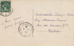 Ambulant Paris à Erquelines 1°-A- 3/9/1913 - Spoorwegpost