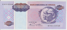 Angola 100000 Kwanzas 1995 Pick 139 UNC - Angola