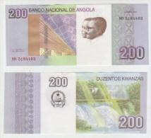 Angola 200 Kwanzas 2012  Pick 154 UNC - Angola