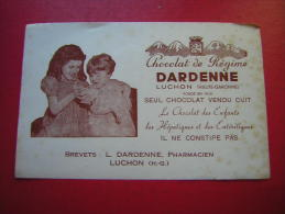 BUVARD   CHOCOLAT DE REGIME DARDENE ( PHARMACIEN )   LUCHON - Cocoa & Chocolat