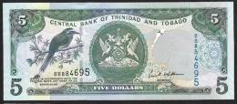 TRINIDAD & TOBAGO   : 5  Dollars - 2006 - P47 - UNC - Trindad & Tobago