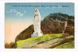 Lower St. Lawrence River, Canada, Statue Of Notre Dame Du Saguenay, Quebec, Canada, 1900-1910s - Saguenay