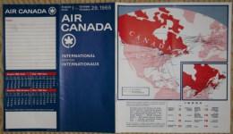 Horaires Air Canada Du 1er Août Au 29 Octobre 1966 - 21 Pages - World