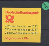 BRD  Markenheft  Postfrisch   MH-MiNr. 22  Iyk1 - Blocchi