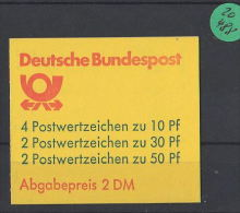 BRD  Markenheft  Postfrisch   MH-MiNr. 22  I Xa - Blocchi