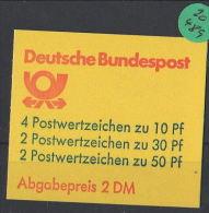 BRD  Markenheft  Postfrisch   MH-MiNr. 22  I W - Blocchi