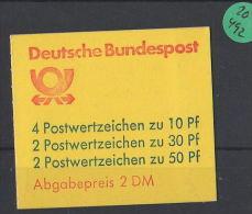 BRD  Markenheft  Postfrisch   MH-MiNr. 22  I T - Blocchi