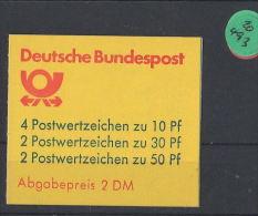 BRD  Markenheft  Postfrisch   MH-MiNr. 22  I S - Blocchi